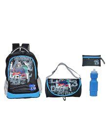 Avon Bags Highway Patrol Casual Waterproof Backpack Combo Set - Black And Blue