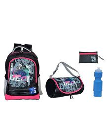 Avon Bags Highway Patrol Casual Waterproof Backpack Combo Set - Black And Pink
