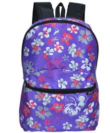 Avon Bags F-Lightpak Hibiscus Print 15 Litres Backpack - Purple