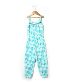 Beebay Singlet Jumpsuit Marigold Print - Sea Green