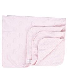Luvable Friends Heart Print Blanket - Pink
