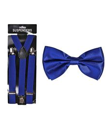 Tiekart Buzzing Bow & Suspender - Blue