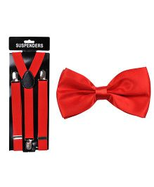 Tiekart Fiery Finesse Bow & Suspender - Red