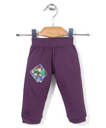 Red Ring Track Pants Ben 10 Print - Purple