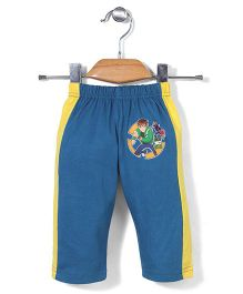 Red Ring Track Pants Ben 10 Print - Blue and Yellow