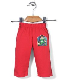Red Ring Track Pants Ben 10 Print - Red