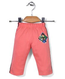 Red Ring Track Pants Ben 10 Print - Coral