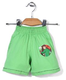 Red Ring Shorts Ben 10 Print - Green