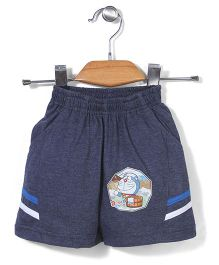 Red Ring Shorts Doraemon Print - Blue