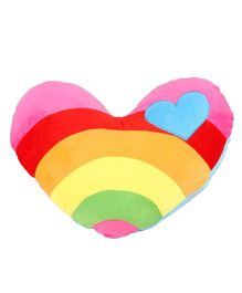 Stybuzz Rainbow Heart Shape Cushion - Multi Color