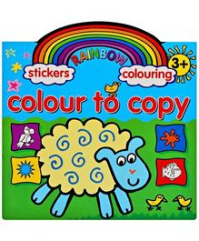 Rainbow Stickers & Colouring Colour To Copy