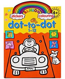 Rainbow Stickers & Colouring Dot To Dot 1-12
