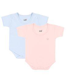 Lula Half Sleeves Onesies Pack of 2 - Blue and Pink