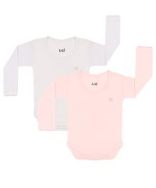 Lula Full Sleeves Onesies Pack of 2 - Blue and Off White