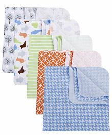 Luvable Friends Pack Of 5 Blankets - Multicolour