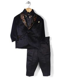 Zeal 3 Piece Party Suit With Bow - Black