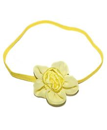 Bling & Bows Headband With Motif - Yellow