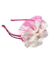 Bling & Bows Flower Hairband - Pink