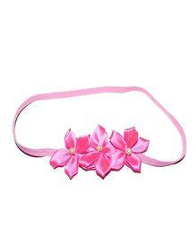 Bling & Bows Flower Hairband - Fuchsia Pink