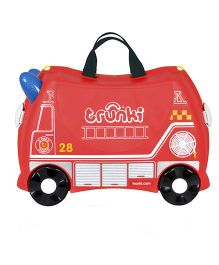 Trunki Fire Engine Frank Travel Luggage Bag - Red
