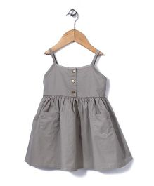 Sela Singlet Frock Two front Pockets - Grey