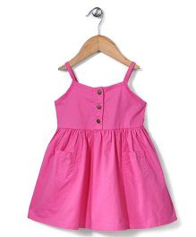 Sela Singlet Frock Two front Pockets - Pink