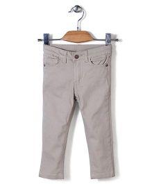 Sela Full Length Trouser - Stone Grey