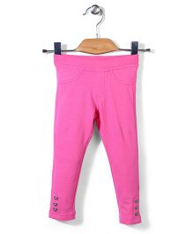 Sela Full Length Jeggings Heart Shape Design - Pink