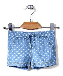 Sela Shorts Polka Dots Print - Blue