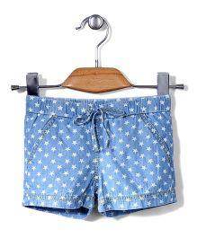 Sela Shorts Polka Dots Print - Blue