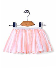 Sela Skirt Stripes Pattern - Peach