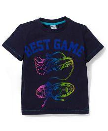 Sela Half Sleeves T-Shirt Best Game Print - Navy