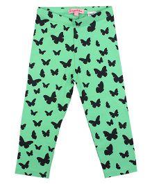 CrayonFlakes Enchanting Butterfly Leggings - Light Green