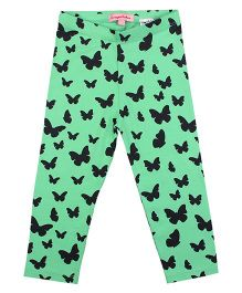 CrayonFlakes Enchanting Butterfly Leggings - Light Green
