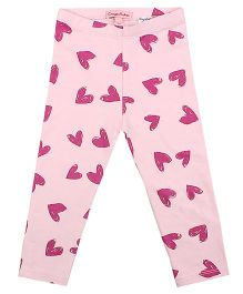 CrayonFlakes Smiling Hearts Leggings - Light Pink