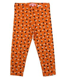 CrayonFlakes LockedUp Hearts Leggings - Orange