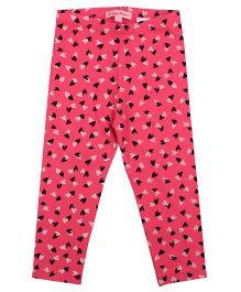 CrayonFlakes LockedUp Hearts Leggings - Bright Pink