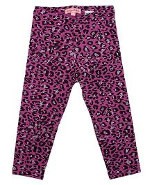 CrayonFlakes Jazzy Animal Print  Leggings - Purple