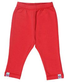 CrayonFlakes Solid Lazy Lace Fleece Pants - Coral