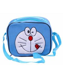 Doraemon Kids Tiffin Sling Bag With Insulation Fur Finish - Blue