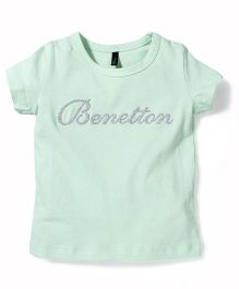 UCB Half Sleeves Top Benetton Print - Light Green