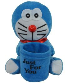 O Teddy Little Doraemon Soft Toy With Pen Holder - Blue