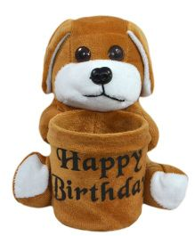 O Teddy Cute Puppy Pen Holder - Brown