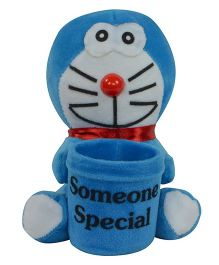 O Teddy Little Doraemon With Pen Holder - Blue
