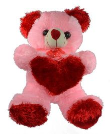 O Teddy Special Teddy Soft Toy - Pink And Red