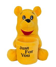 O Teddy Smiley Ladoo Pen Holder - Yellow
