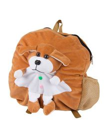 O Teddy Soft Toy Puppy Shoulder Bag - Brown And White