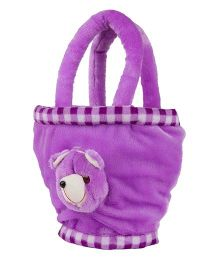 O Teddy Soft Toy Hand Bag - Purple