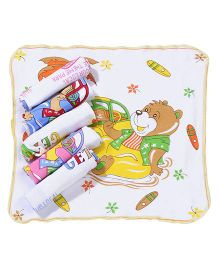 Mee Mee Printed Napkins - Set Of 6