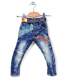 Noddy Original Clothing Denim Jeans With Belt - Blue